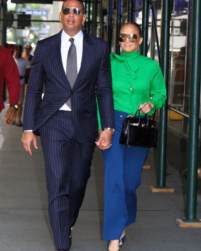 """<p>Jennifer Lopez kissed a lot of high-profile frogs before landing her prince charming in former Yankees player, Alex Rodriguez.</p> <p><a href=""""https://style.nine.com.au/2018/03/14/15/43/jennifer-lopez-bronzer-glow-makeup-beauty"""" target=""""_blank"""" title=""""The 49-year-old multi-hyphenate"""" draggable=""""false"""">The 49-year-old multi-hyphenate</a> and retired athlete share four children, endless achievements and a love of<a href=""""https://style.nine.com.au/2017/07/20/15/34/couple-dressing-blake-lively-ryan-reynolds"""" target=""""_blank"""" title="""" coordinated power dressing."""" draggable=""""false""""> coordinated power dressing.</a><br /> <br /> Case in point, for a stroll through the streets of New York City yesterday, fashion's flashiest duo took a style cue from 1977's <em>Saturday Night Fever.</em><br /> <br /> Lopez brought the bold, bright and bashful style of disco to life by way of a green pussy-bow from Gucci, ink blue bell bottoms, a belt also from the luxury Italian label and platform heels.<br /> <br /> Rodriguez complemented her attire in a slick pinstripe suit, grey tie and reflective aviators. <br /> <br /> The Play singer and her athlete beau, who formerly dated Kate Hudson and Cameron Diaz, have fast-become America's favourite power couple since meeting in February 2017.<br /> <br /> Whether they are on the streets or the red carpet, J.Rod never fail to turn any opportunity into a fashion moment. <br /> <br /> Click through to see a history of coordinated power dressing courtesy of Jennifer Lopez and Alex Rodriguez.</p>"""