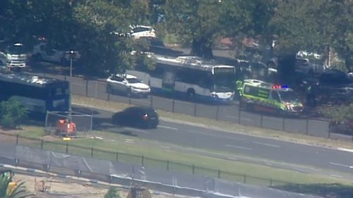 A Sydney pedestrian who was hit by a bus in Moore Park has since died in hospital.
