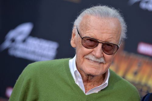Stan Lee attends the World Premiere of Avengers: Infinity War in Los Angeles on April 23. (AAP)