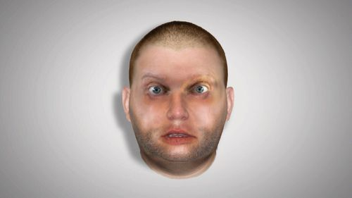 "A newly-released police sketch of the man possible named Peter ""Thommo"" Thompson."