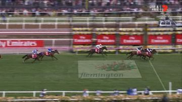 Rekindling wins the Melbourne Cup. (Network Seven)