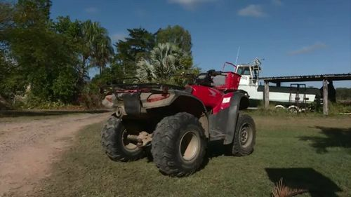 The man was thrown off this quad bike in Bondoola. Picture: 9NEWS