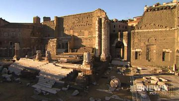 Ancient relics discovered under the streets of Rome
