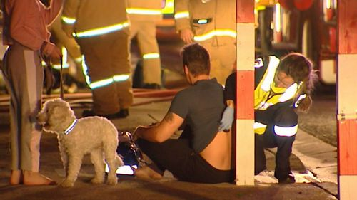 Mr Raynor was assessed by paramedics at the scene. (9NEWS)