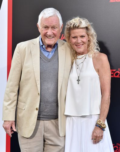 Orson Bean and his actress wife Alley Mills attend the premiere of The Equalizer 2 at TCL Chinese Theatre on July 17, 2018 in Hollywood, California