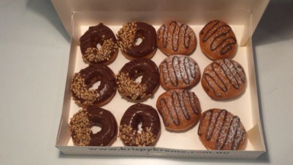 This is what the official Nutella/Krispy Kreme donut looks like