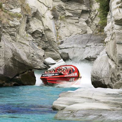 Shoot down a rocky river in Queenstown