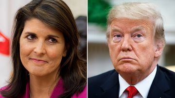 When UN Ambassador Nikki Haley announced she was leaving the Trump administration this week, it was a very different scenario.