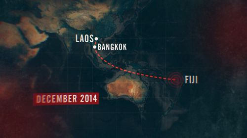 The shipping container containing the drugs was shipped from Laos to Fiji.