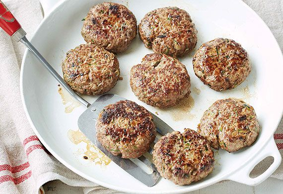 Kate Waterhouse's cheesy beef rissoles with mixed wedges