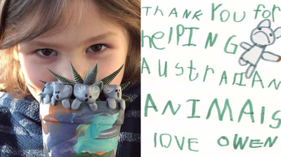 A little boy raised thousands for Aussie wildlife