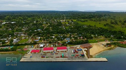 The Chinese government insists the Luganville wharf was built to support Vanuatu's emerging tourism trade. Picture: 60 Minutes