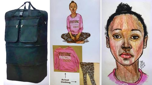 Police released these images as they appealed to find the girl's loved ones.