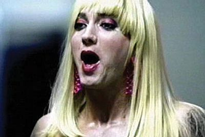 ...only to reprise his dragtastic ways playing a female groupie for D12's 'My Band' vid.