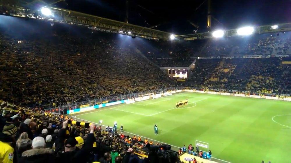 Dortmund fans make touching tribute