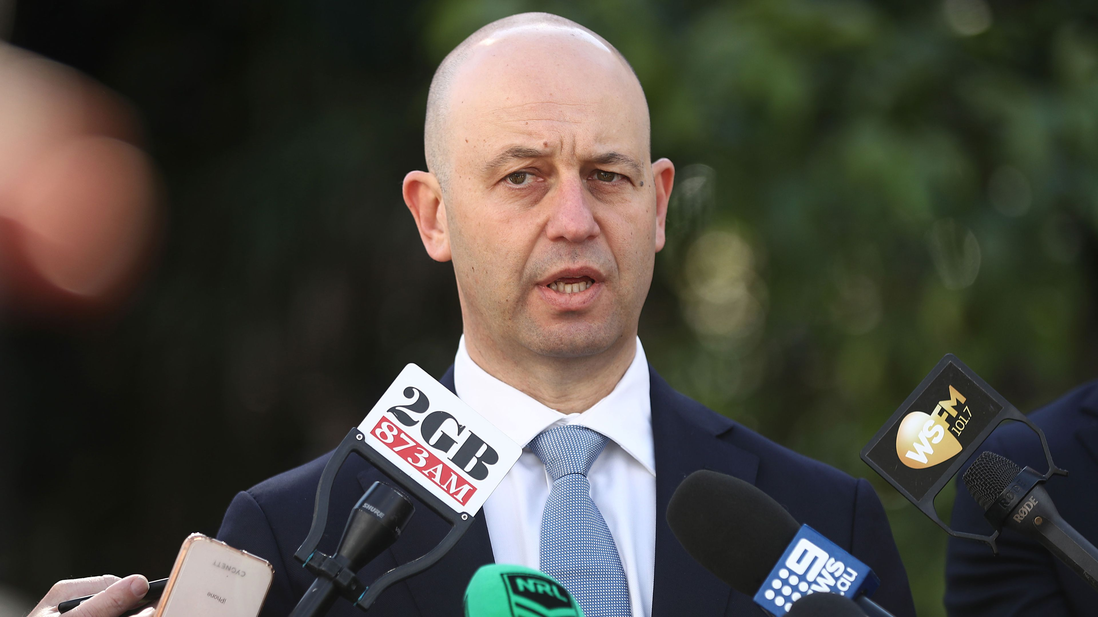 Todd Greenberg addresses the media at the NRL finals launch.