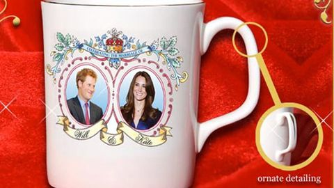 Royal wedding souvenir misprint