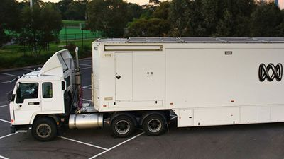 There will be a reduction in the ABC's fleet of TV outside broadcast vans. (Supplied)