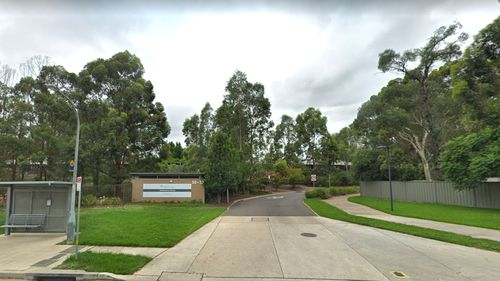The entrance to Newmarch House in Sydney's west, where a coronavirus outbreak was started by an infected worker.