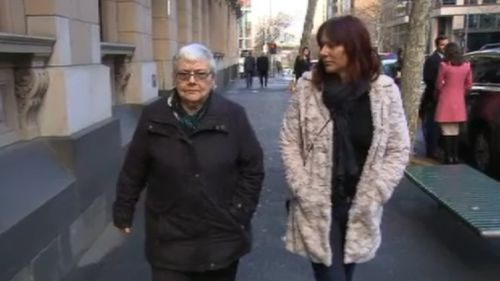 The mother and sister of Ms Chetcuti-Verbunt. (9NEWS)