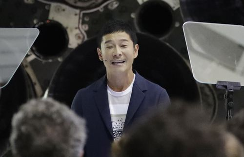 Yusaku Maezawa said his heart was already racing just thinking about the trip.