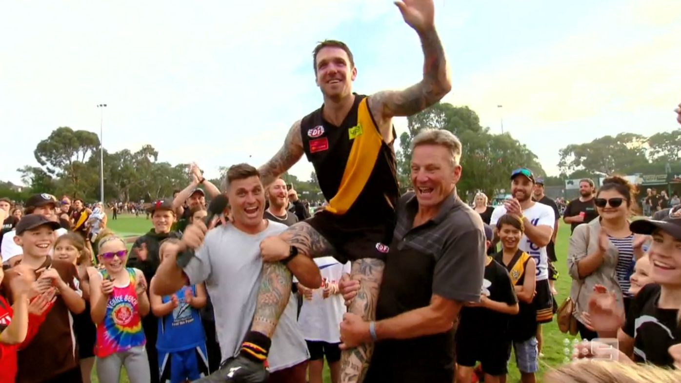 Swanny plays club footy