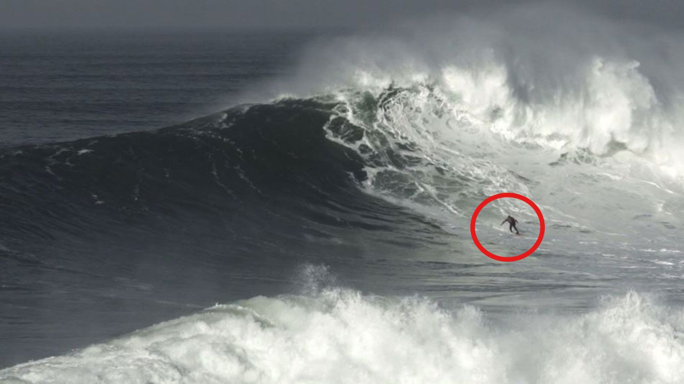 Ross Clarke-Jones at Nazare, Portugal.