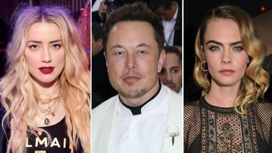 Elon Musk, Amber Heard, Cara Delevingne