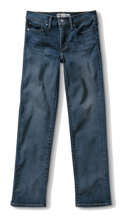 <p>Love the relaxed look of the season's straight-leg jeans, but still pine for the support of skinnier styles? We present the perfect hybrid of both. Don't even get us started on that perfect dusty blue shade.</p>