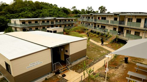 Manus Island detention centre after a police operation. (AAP)