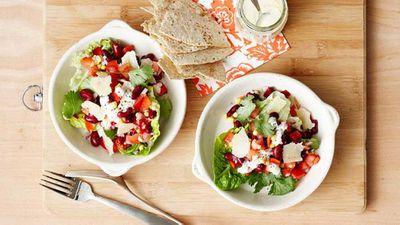 """Recipe:&nbsp;<a href=""""http://kitchen.nine.com.au/2016/05/16/13/05/mexican-salad-bowl"""" target=""""_top"""" draggable=""""false"""">Mexican salad bowl</a>"""
