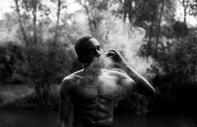 Post-Lockdown Cigarette, in the Cold Rain of June, France (2021)