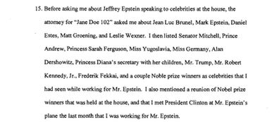 The testimony was made by Juan Alessi, a handyman at Jeffrey Epstein's Palm Beach mansion for several years