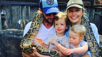 Langdon and her family travelled to northern NSW, stopping in on the Australian Reptile Park.
