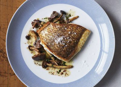 "<a href=""http://kitchen.nine.com.au/2016/05/17/14/44/crispskinned-snapper-with-chestnut-mushrooms"" target=""_top"">Crisp-skinned snapper with chestnut mushrooms<br /> </a>"