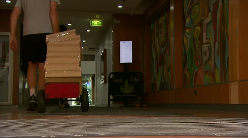 Officers from the ICAC spent this morning collecting boxes of evidence from the NSW Labor headquarters in Sydney.