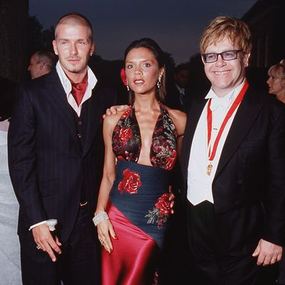 David and Victoria Beckham's kids and godfather Elton John
