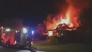 Gold Coast family homeless after 'halo of flames' engulfs house