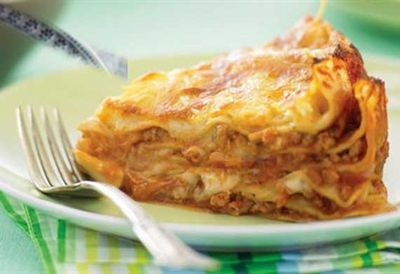Friday: Lasagne pie with pork
