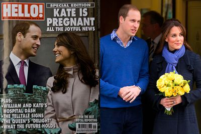 In November 2012, <b>Prince William</b> and <b>Duchess Kate</b> announced they're expecting a baby of their own. Naturally, the media went bananas. However, Kate was admitted to hospital after some complications. <p></p>On the right, William and Kate leave  King Edward VII hospital where the Duchess was being treated for acute morning sickness.