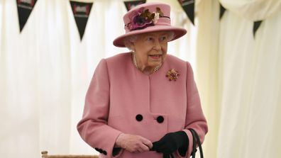Britain's Queen Elizabeth II visits the Defence Science and Technology Laboratory (DSTL) at Porton Down, England