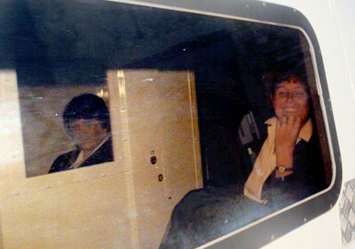 Rosemary West on her way to court in 1995. She was found guilty for murdering 10 victims.