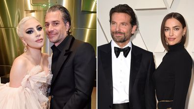 Lady Gaga and Christian Carino, and Bradley Cooper and Irina Shayk