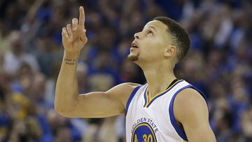 Superstar Steph Curry dropped 46 points in the record-breaking win. (AAP)