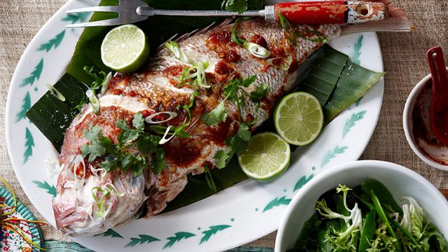 Whole tamarind snapper