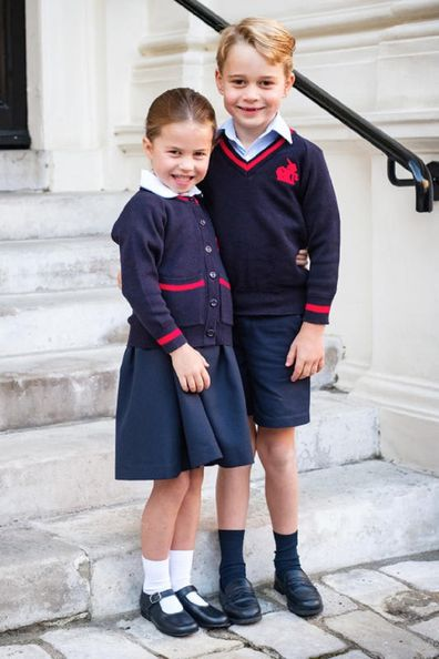 Princess Charlotte has joined brother Prince George at the preparatory school.