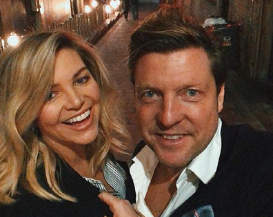 Rebecca Maddern with her husband.