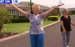 Retirees stepping out for daily driveway dance sessions