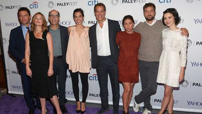 Dominic West, Ruth Wilson, Matt Blank, Sarah Treem, Josh Stamberg, Maura Tierney, Joshua Jackson and Julia Goldani Telles from The Affair.