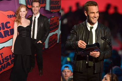 Blast from the past! <br/><br/>Dawson aka James Van Der Beek walks the red carpet with his super-chic wife Kimberly.